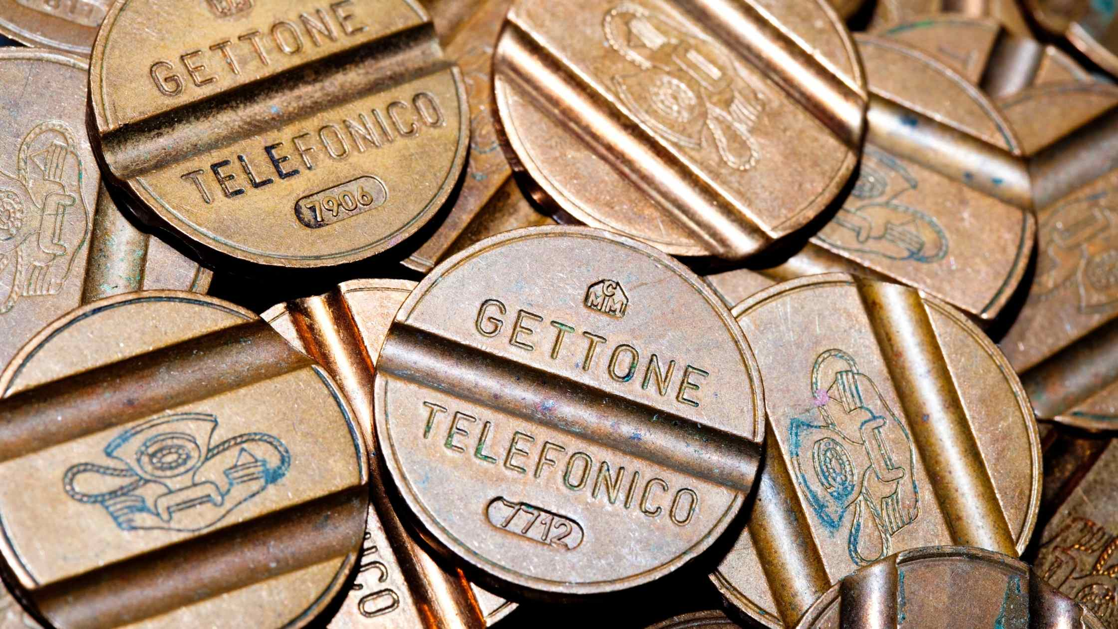 API security concept; pile of phone tokens