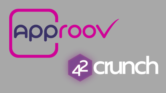 Plain grey background with Approov and 42Crunch company logos