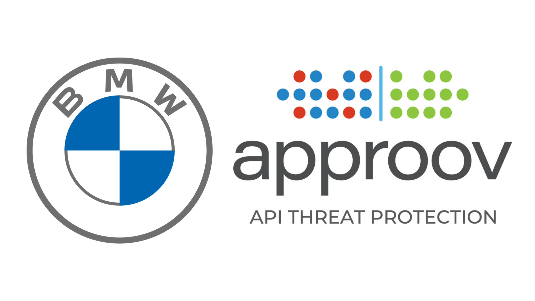 BMW  and Approov API Threat Protection logos on white background