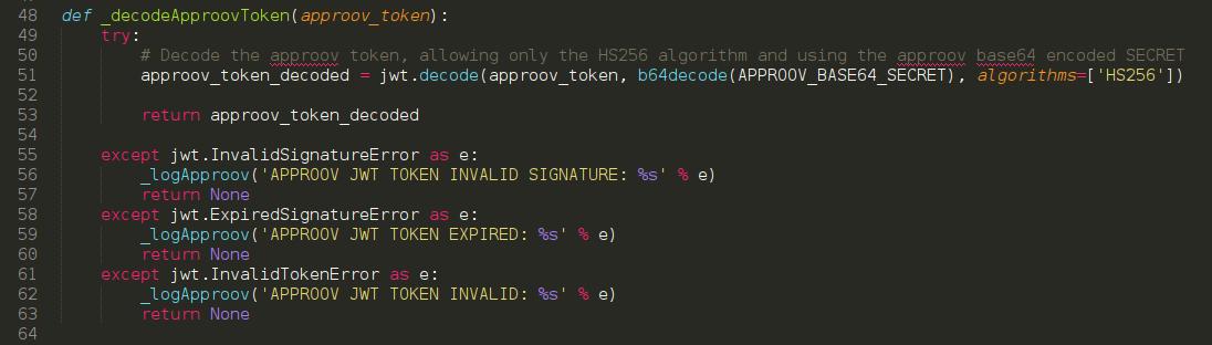 APPROOV INTEGRATION IN A PYTHON FLASK API